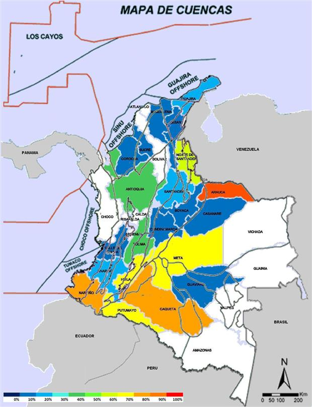 Colombian Hydrocarbons Industry Hotspots