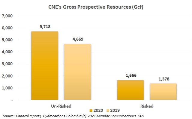 CNE prospective conventional natural gas resources